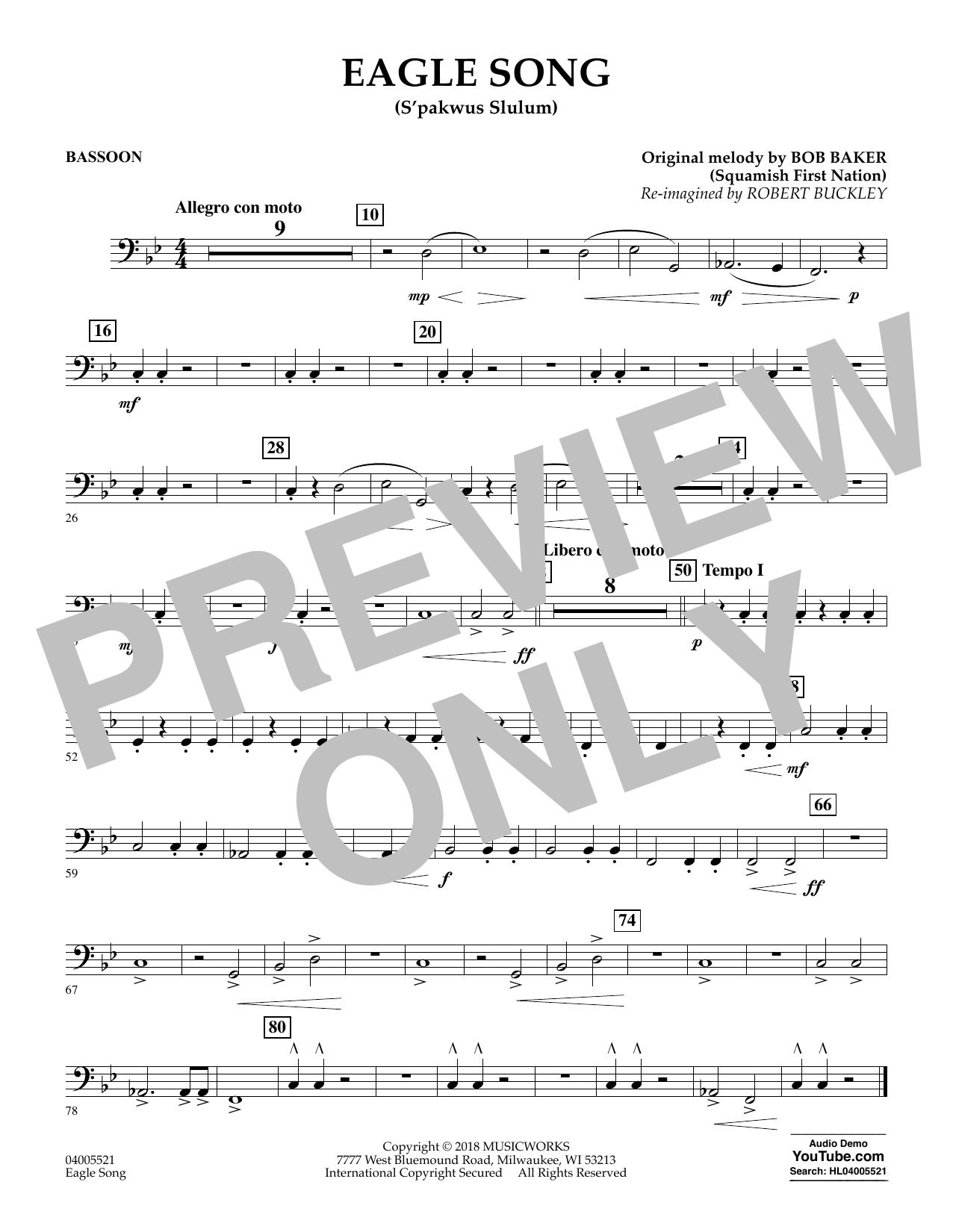 Eagle Song - Bassoon (Concert Band)