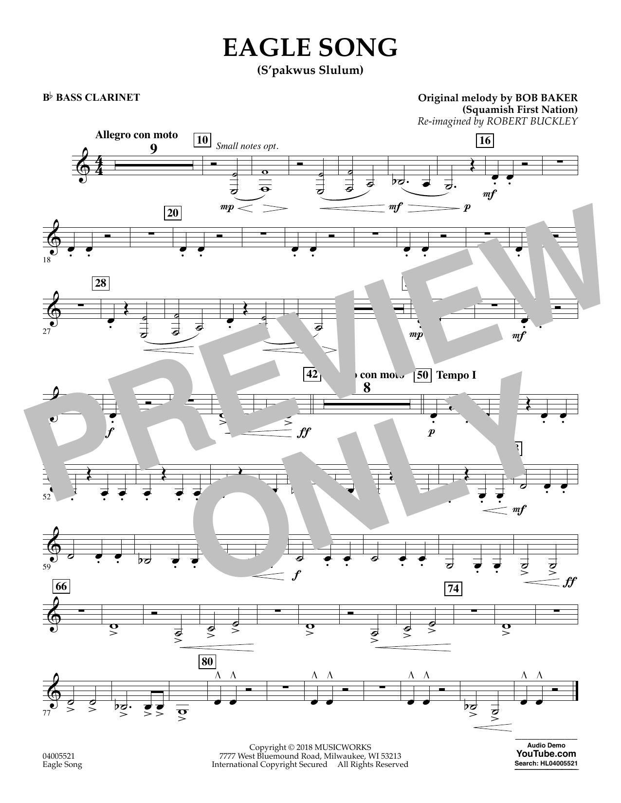 Eagle Song - Bb Bass Clarinet (Concert Band)