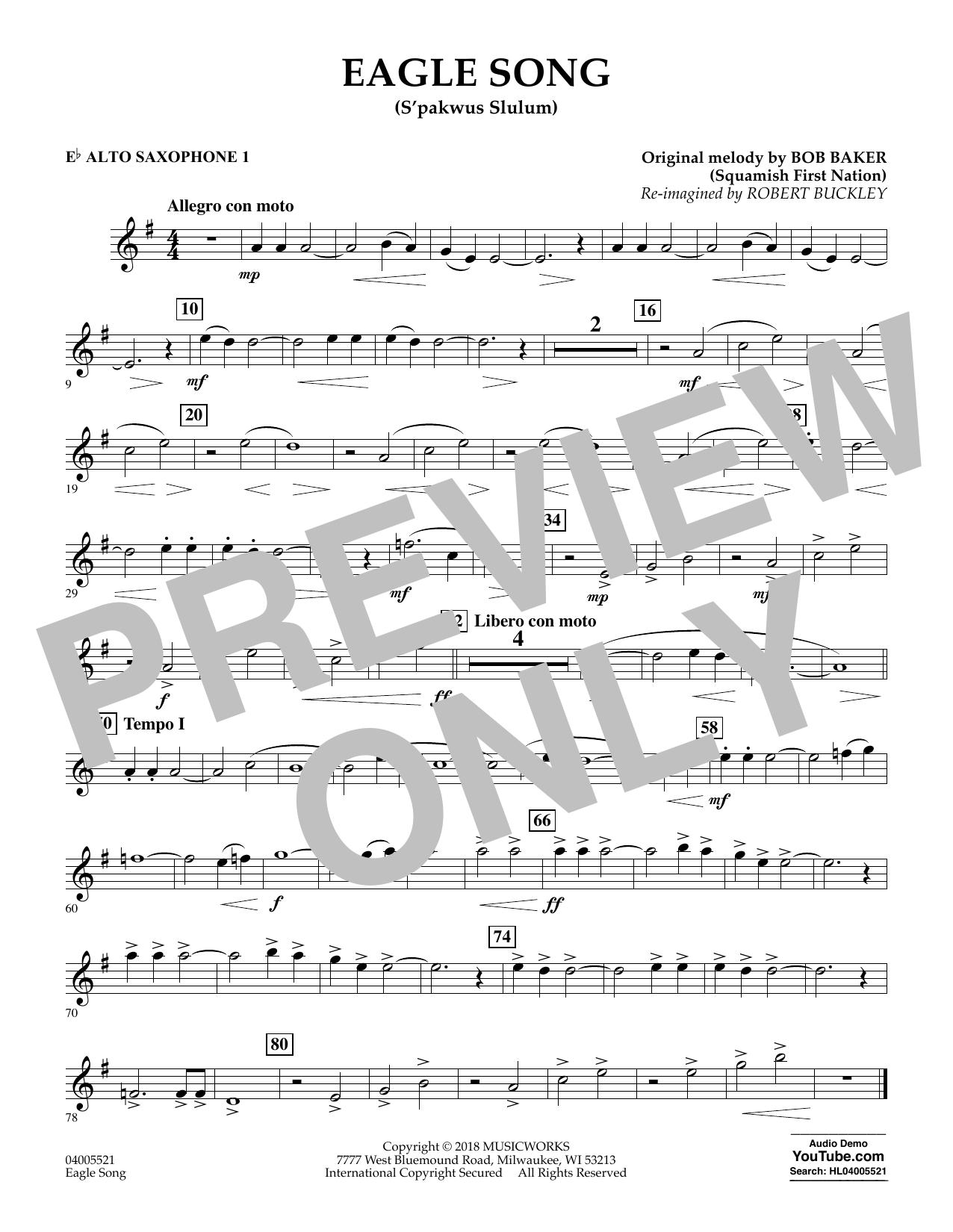 Eagle Song - Eb Alto Saxophone 1 (Concert Band)