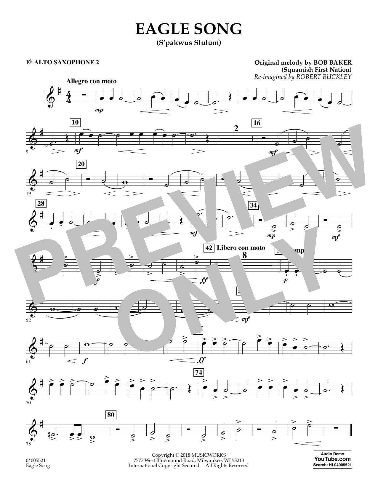 Eagle Song - Eb Alto Saxophone 2 (Concert Band)
