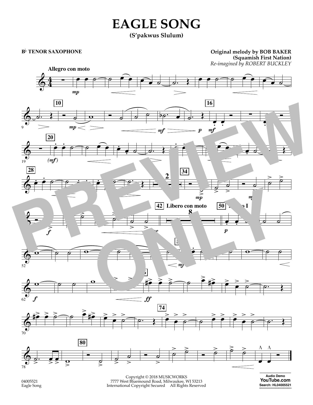 Eagle Song - Bb Tenor Saxophone (Concert Band)