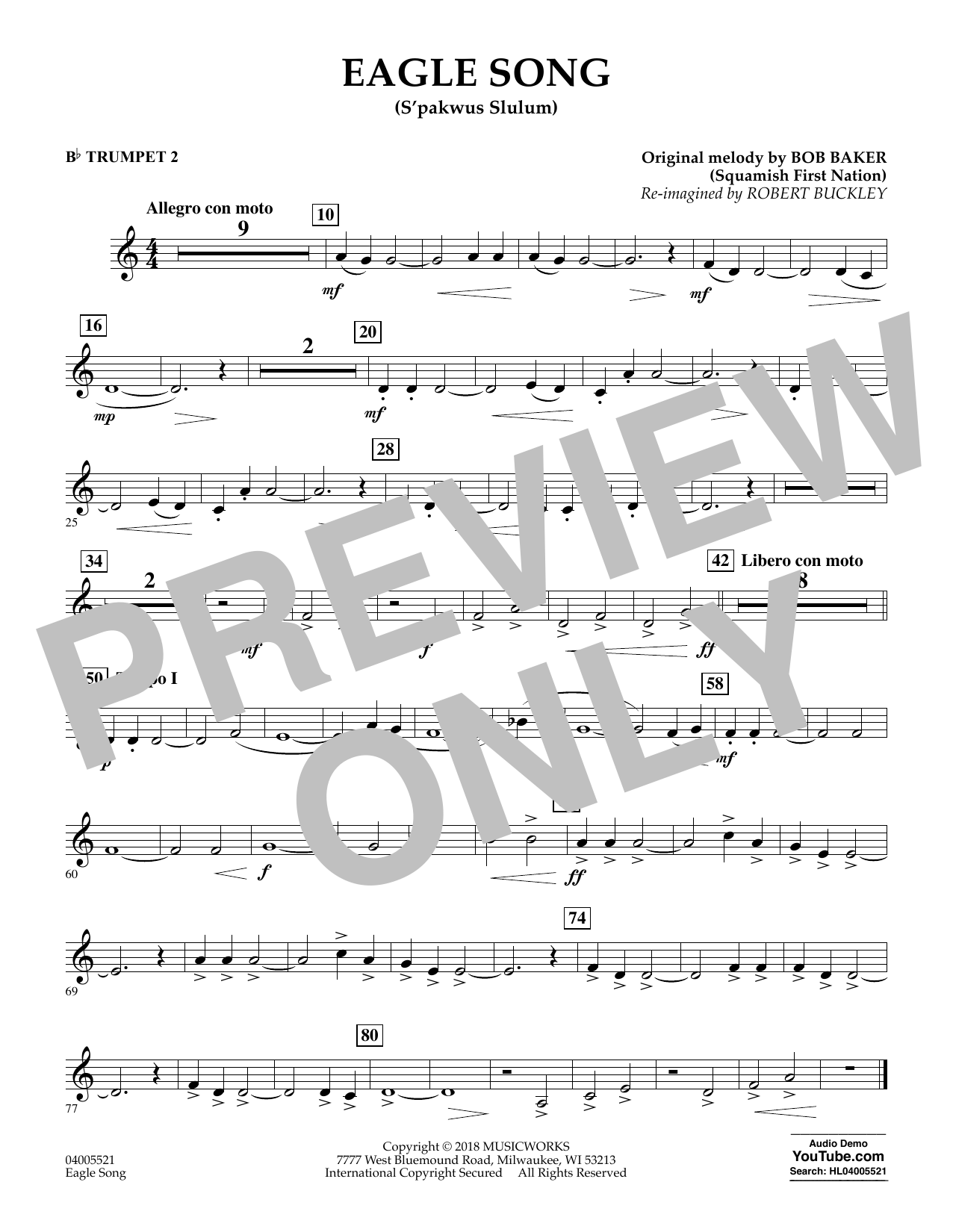 Eagle Song - Bb Trumpet 2 (Concert Band)
