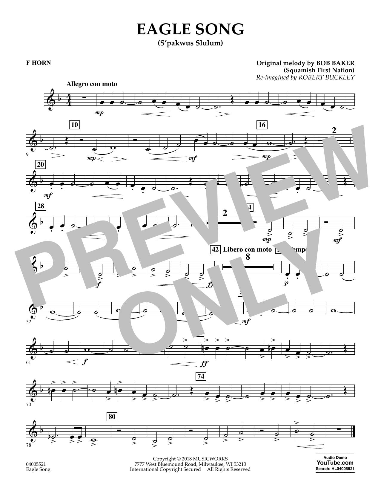 Eagle Song - F Horn (Concert Band)