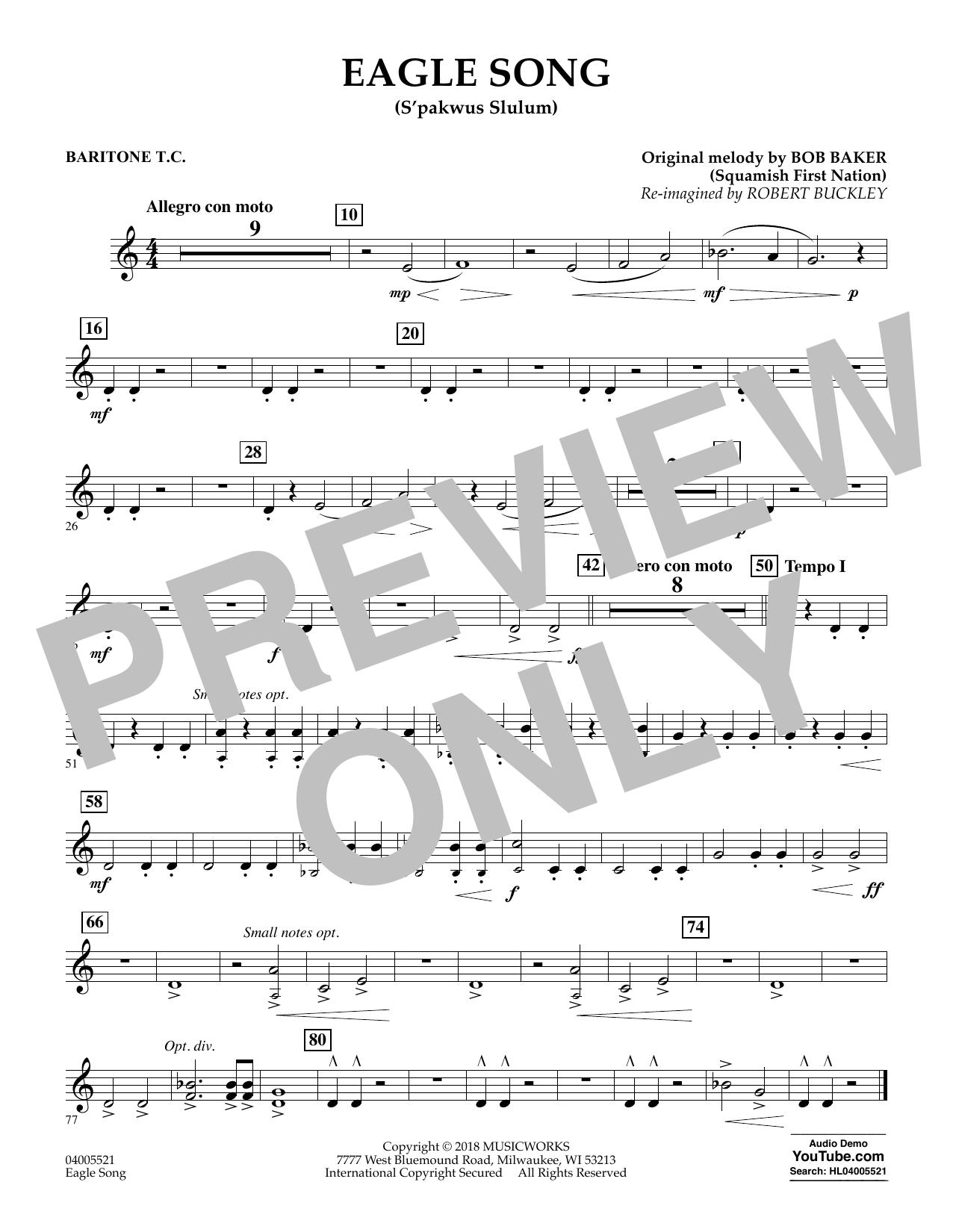 Eagle Song - Baritone T.C. (Concert Band)