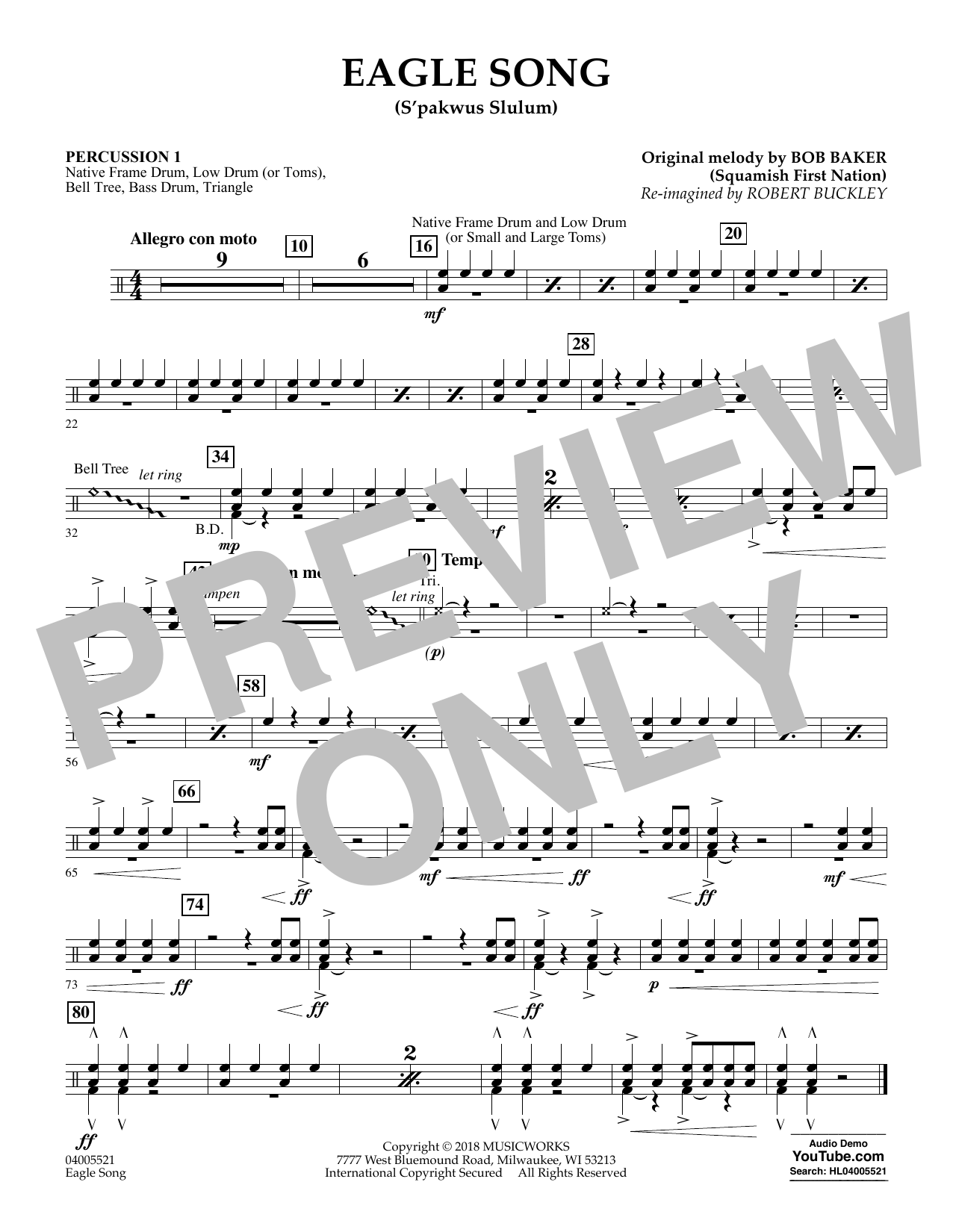 Eagle Song - Percussion 1 (Concert Band)
