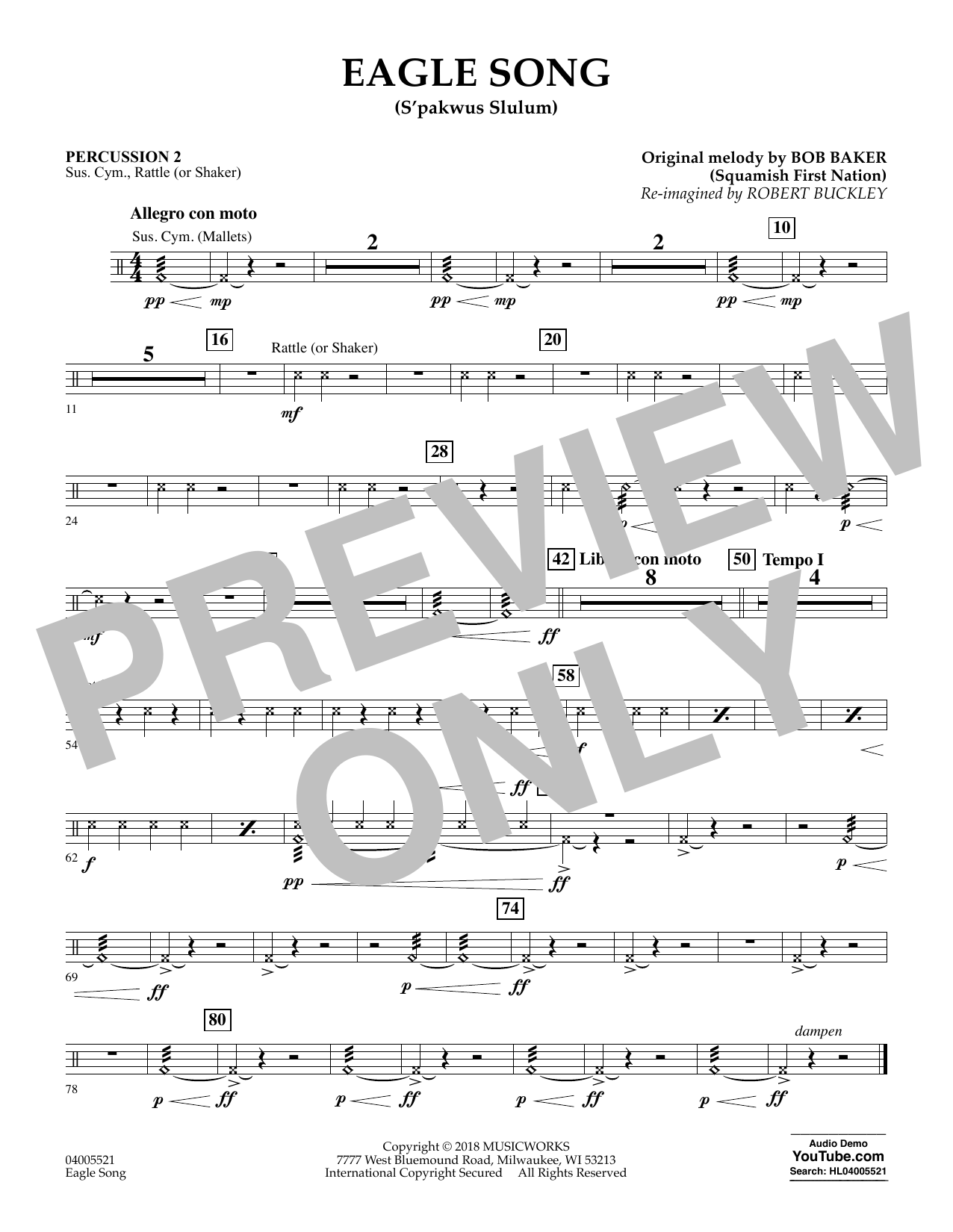 Eagle Song - Percussion 2 (Concert Band)