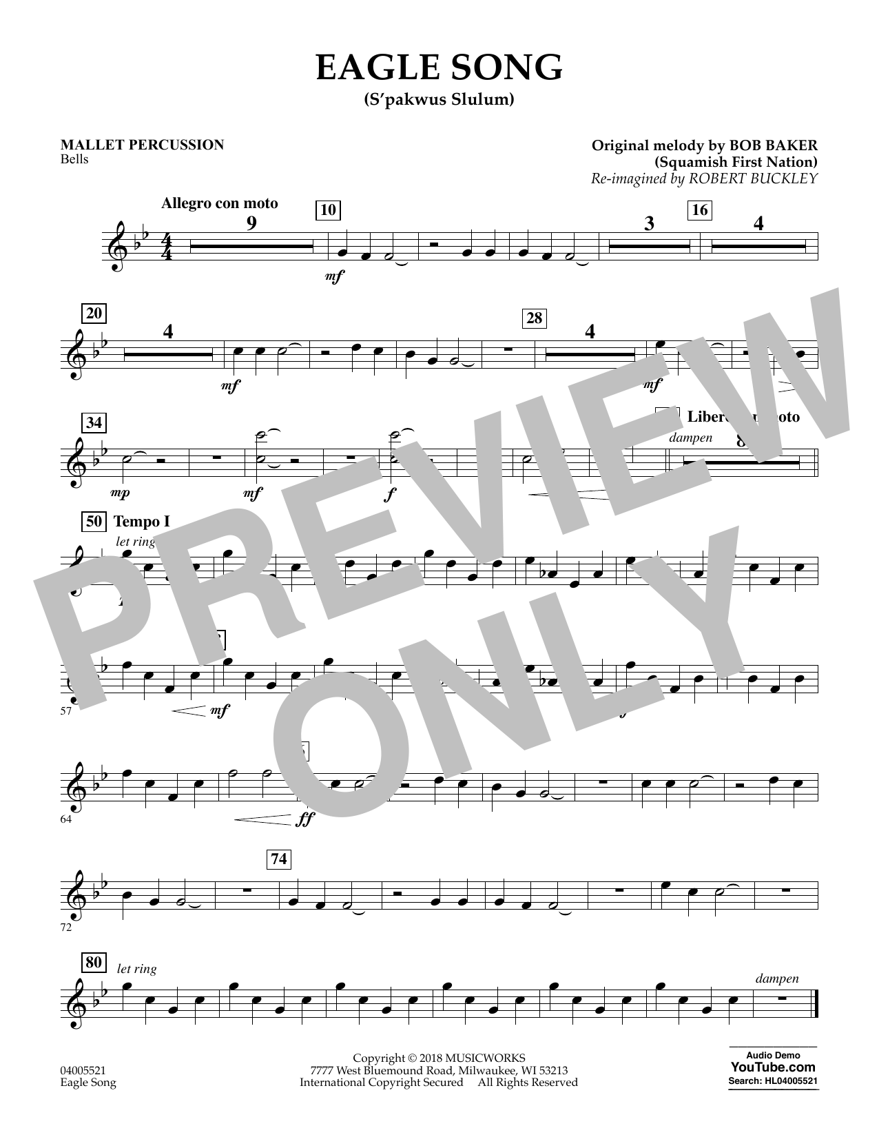 Eagle Song - Mallet Percussion (Concert Band)