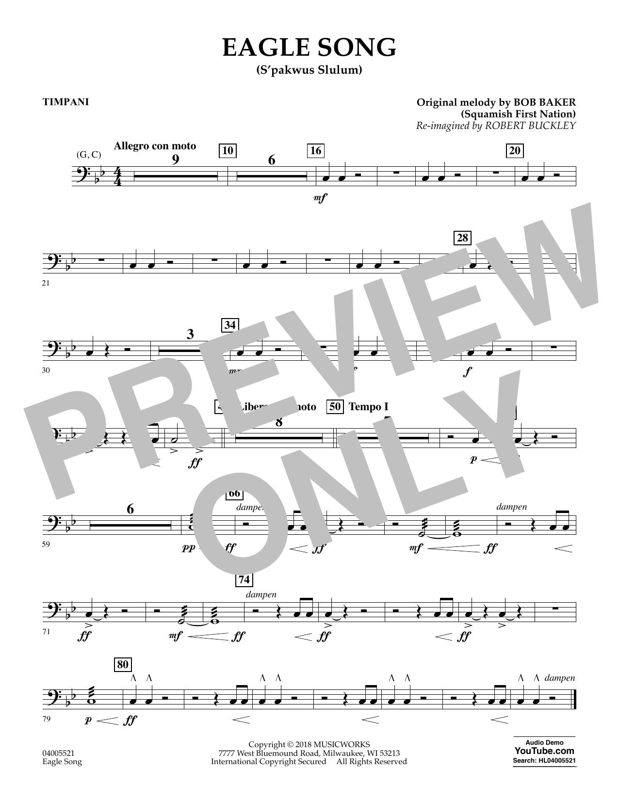 Eagle Song - Timpani (Concert Band)