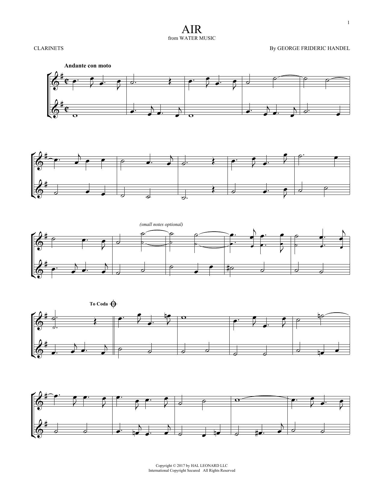 Air (Clarinet Duet)