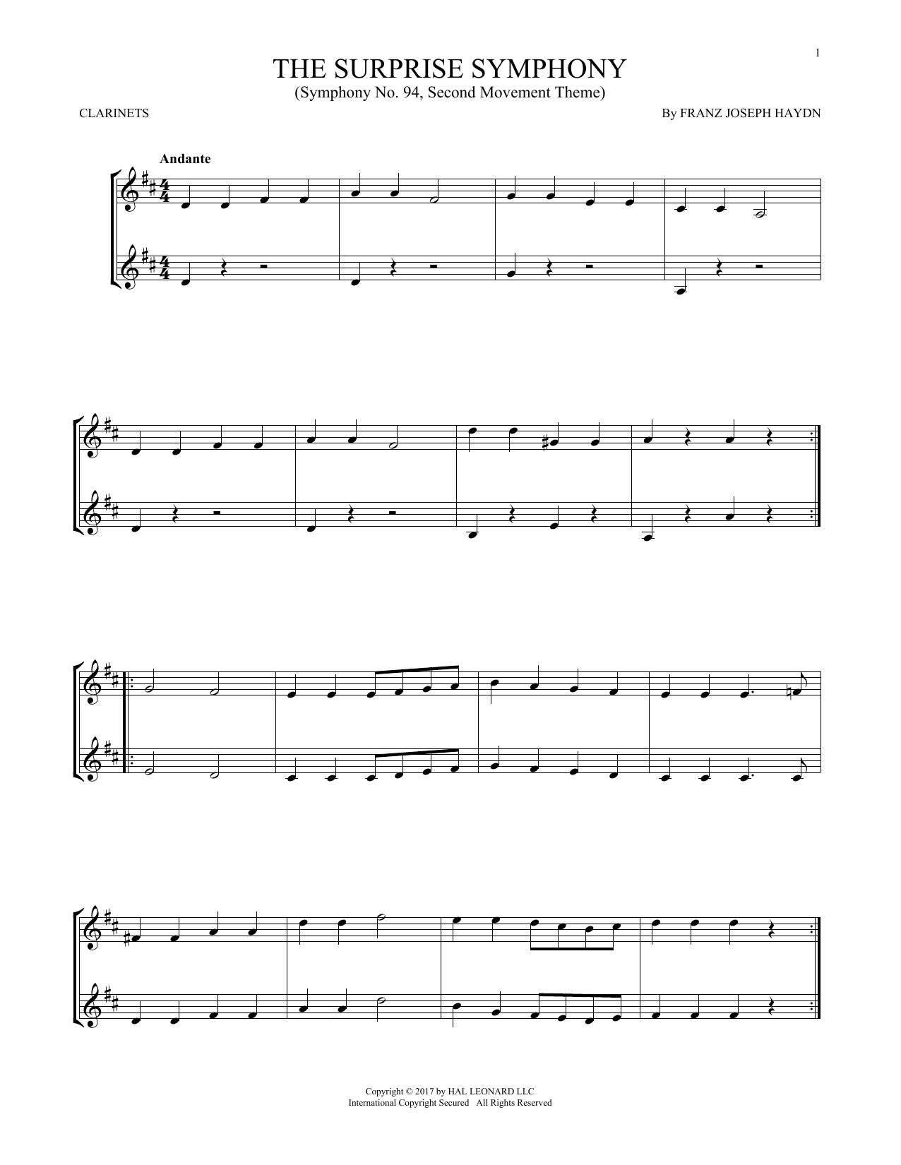 The Surprise Symphony (Clarinet Duet)
