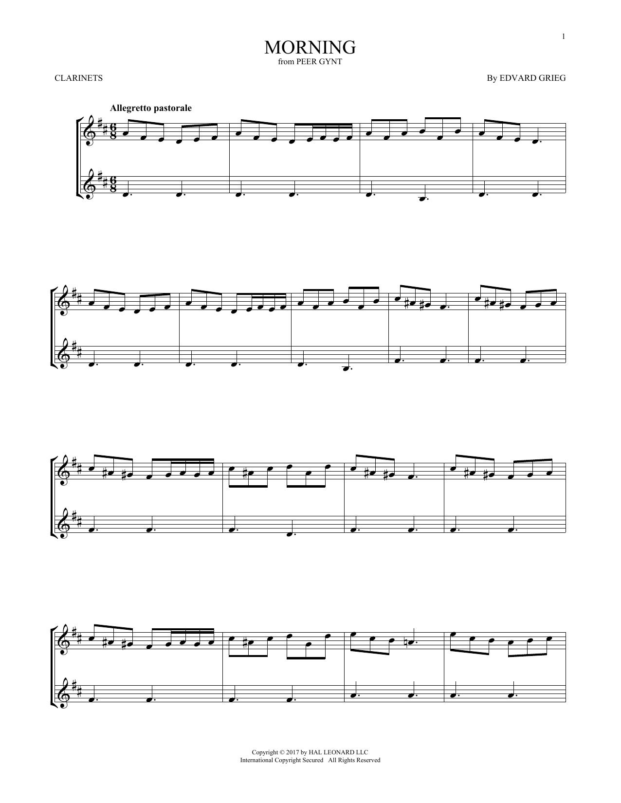 Morning (Clarinet Duet)