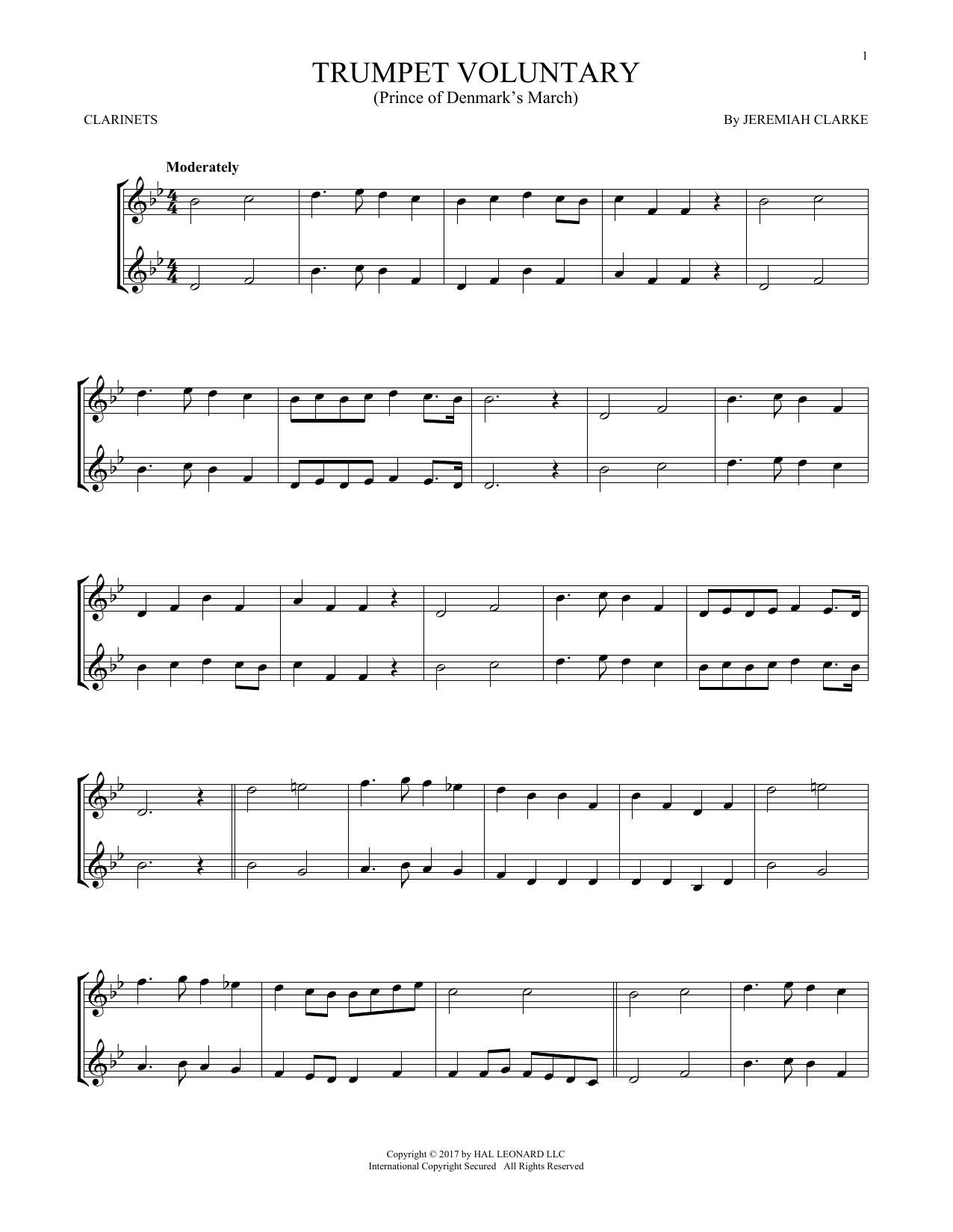 Trumpet Voluntary (Clarinet Duet)