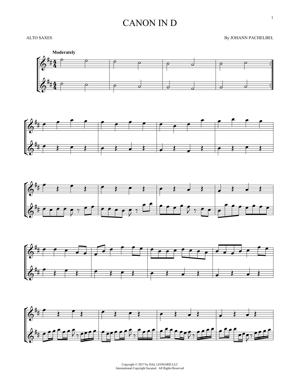 Canon In D (Alto Sax Duet)