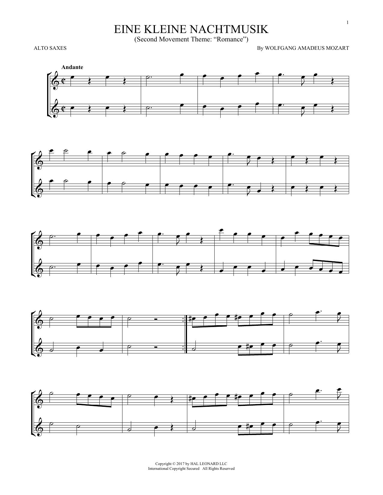 Eine Kleine Nachtmusik (Alto Sax Duet)