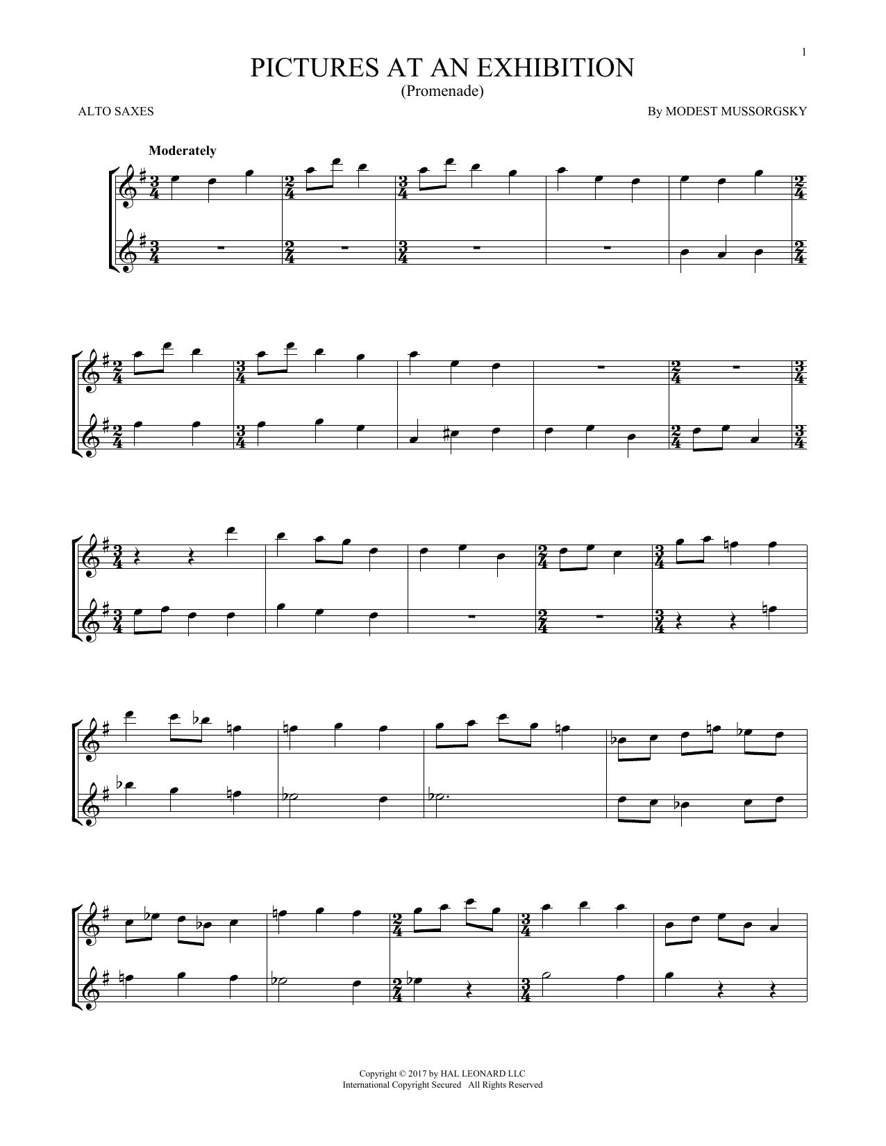 Pictures At An Exhibition (Theme) (Alto Sax Duet)