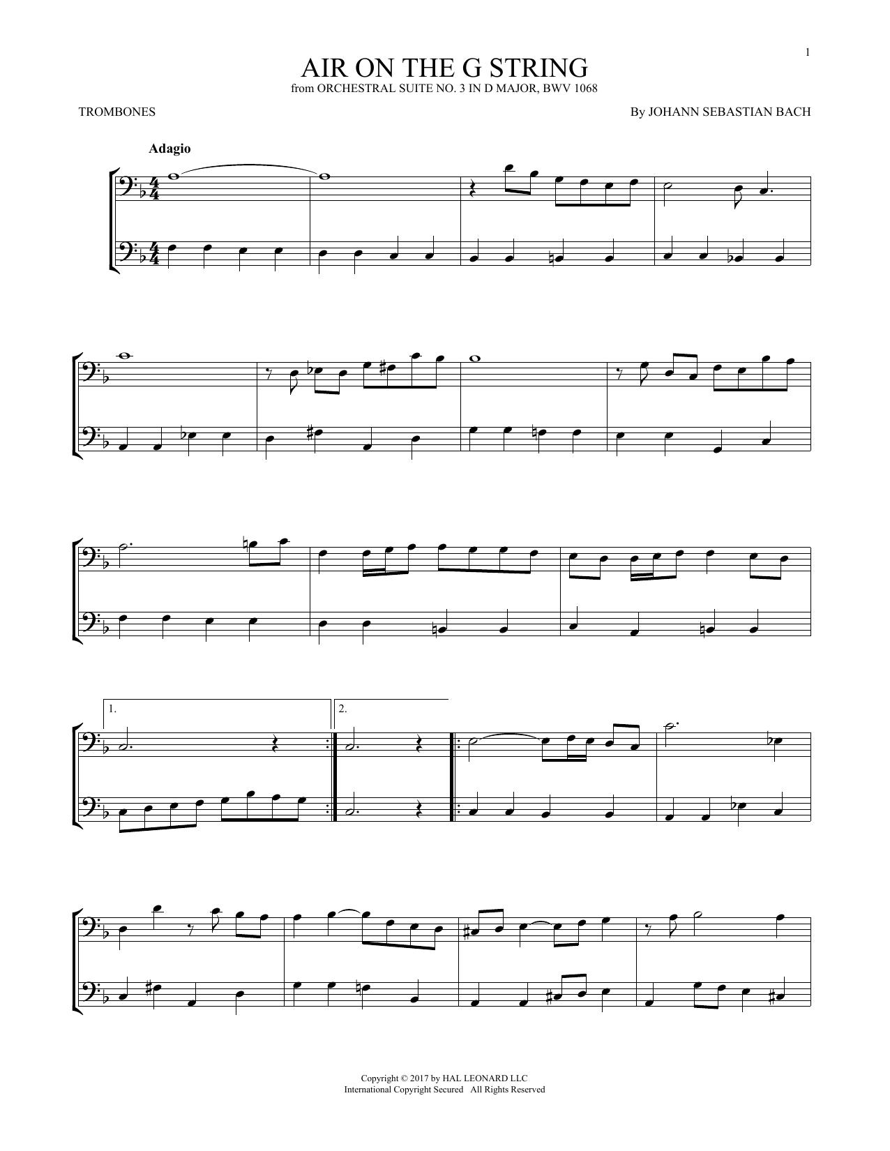 Air (Air On The G String) (Trombone Duet)