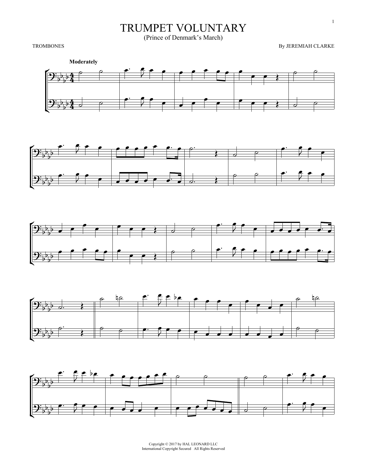 Trumpet Voluntary (Trombone Duet)
