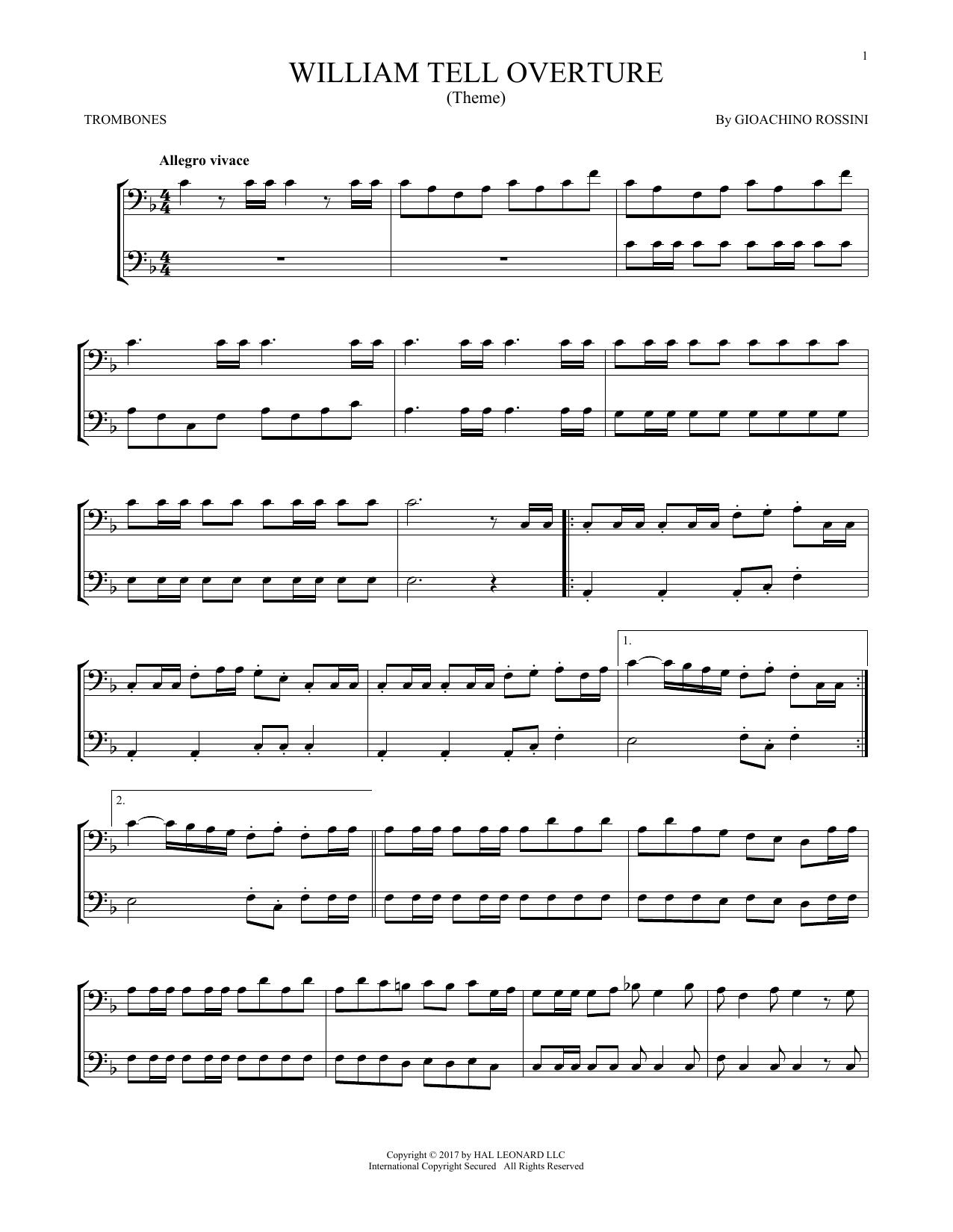 William Tell Overture (Trombone Duet)