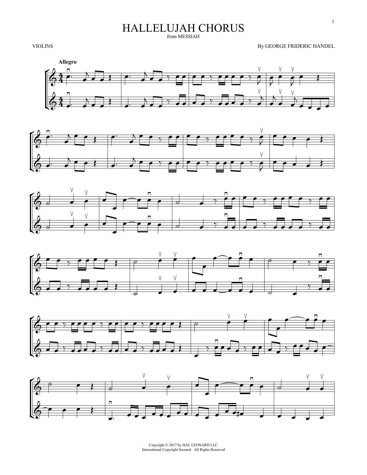 Hallelujah Chorus (Violin Duet)