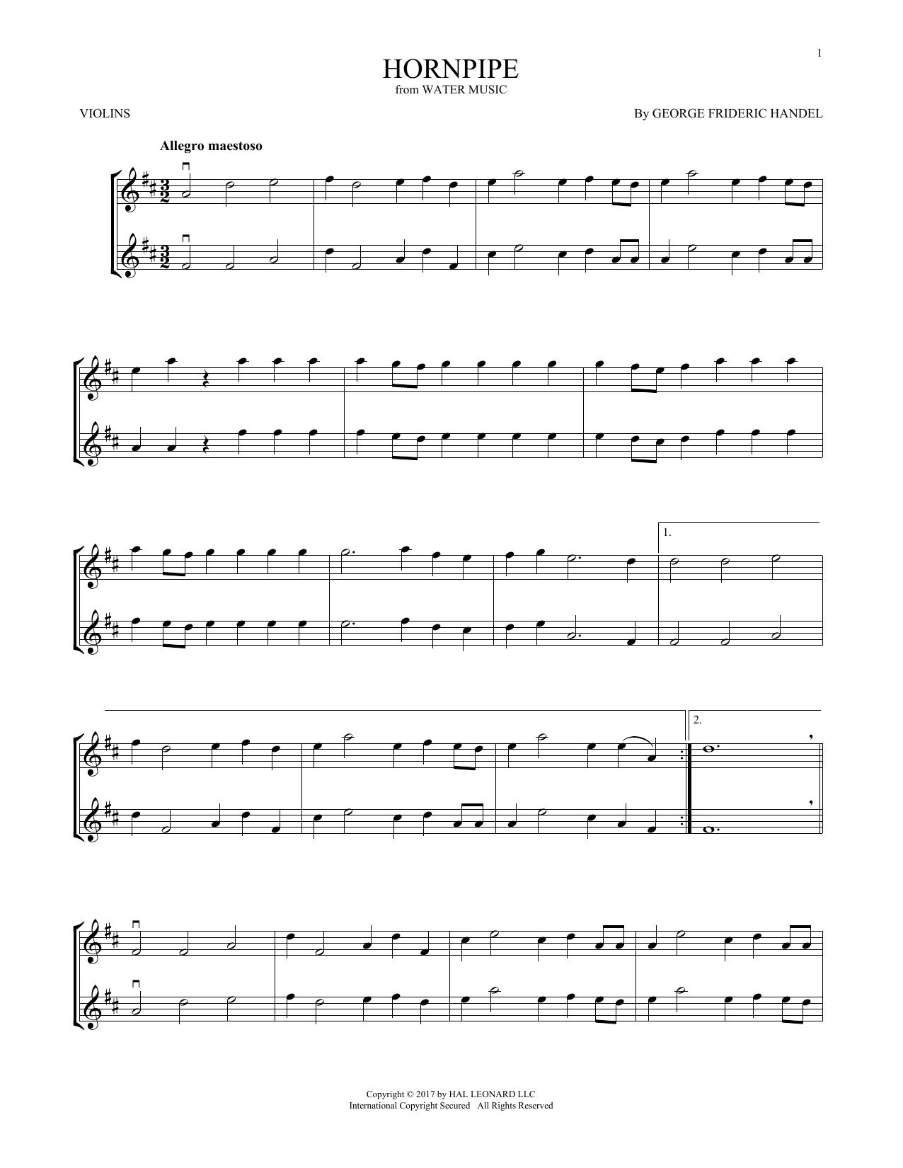 Hornpipe (Violin Duet)