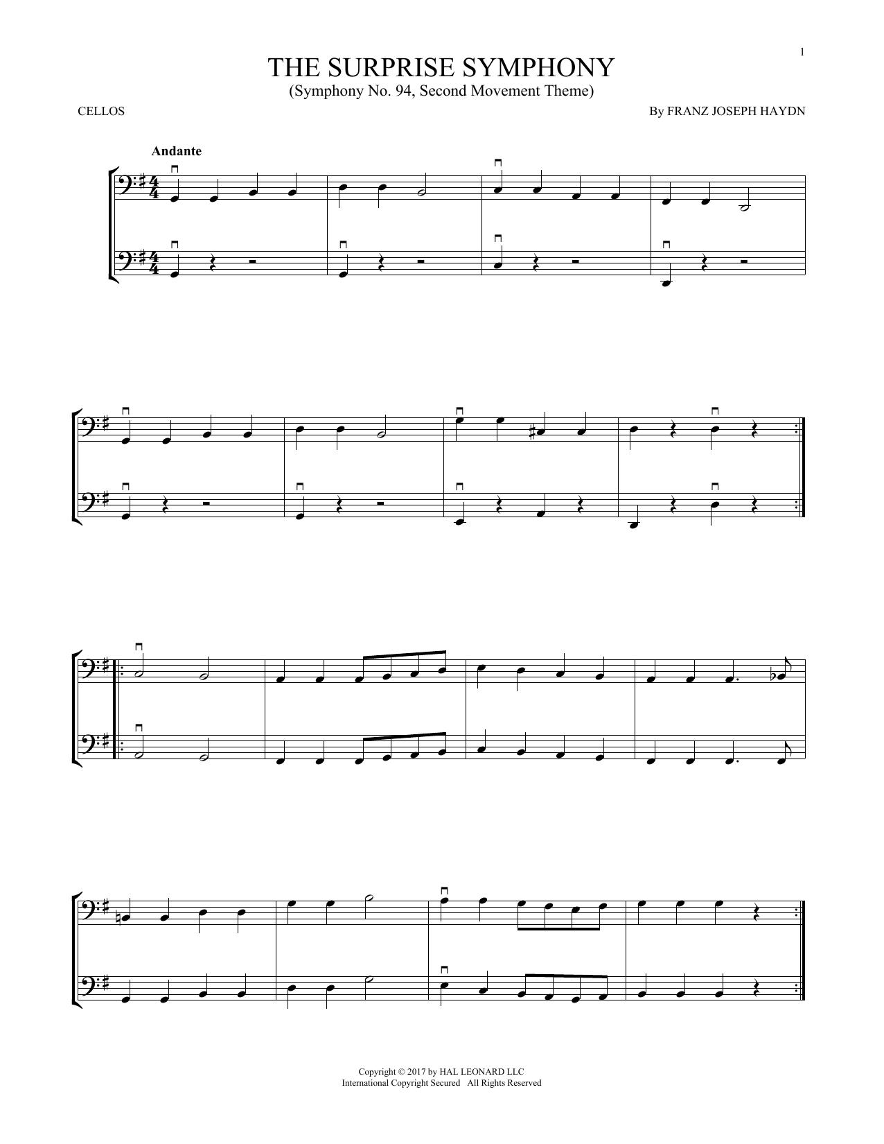 The Surprise Symphony (Cello Duet)