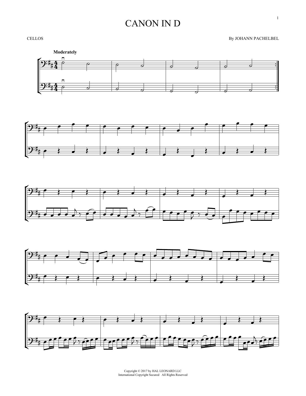 Canon In D (Cello Duet)
