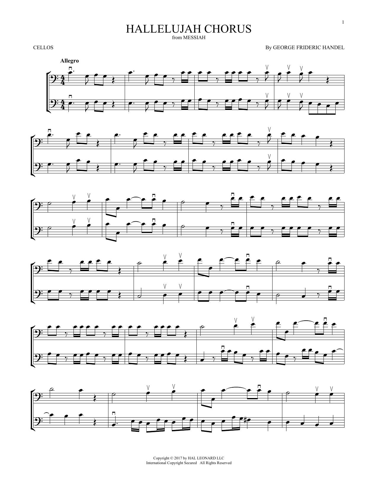 Hallelujah Chorus (Cello Duet)