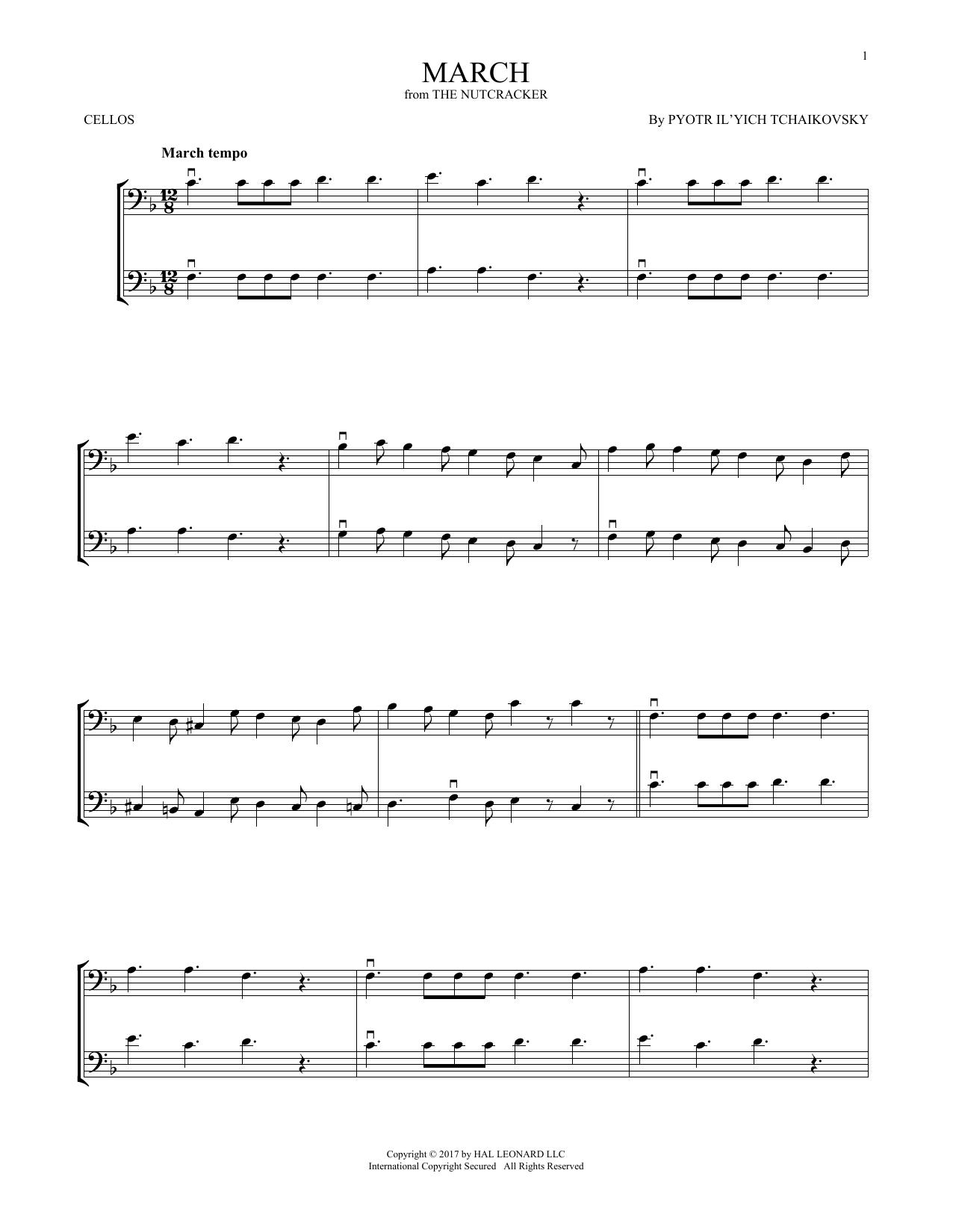 March, Op. 71a (Cello Duet)
