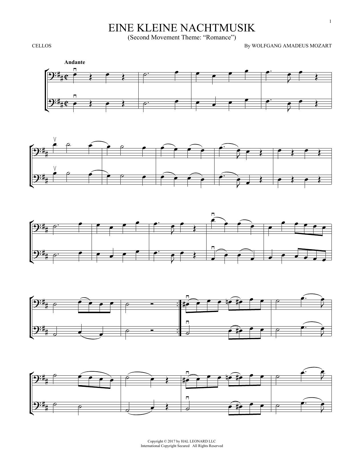 Eine Kleine Nachtmusik (Cello Duet)
