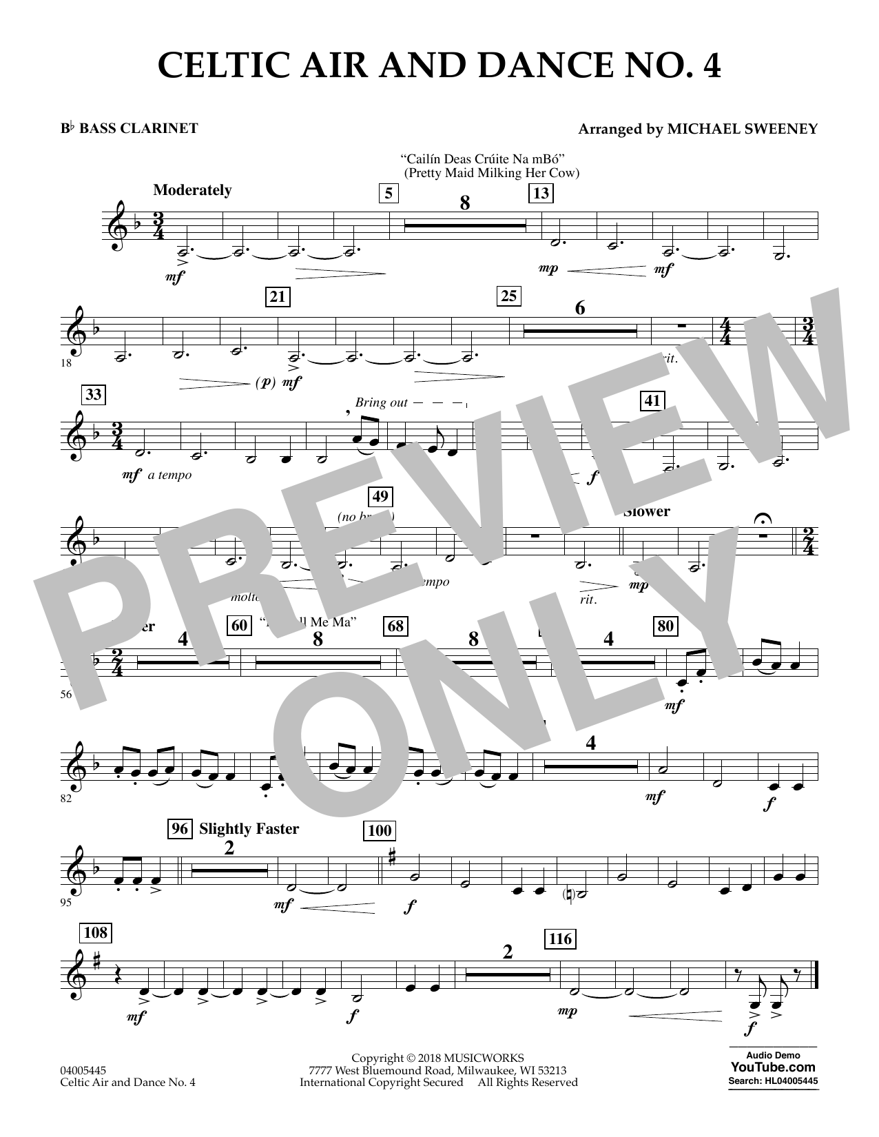 Celtic Air and Dance No. 4 - Bb Bass Clarinet (Concert Band)