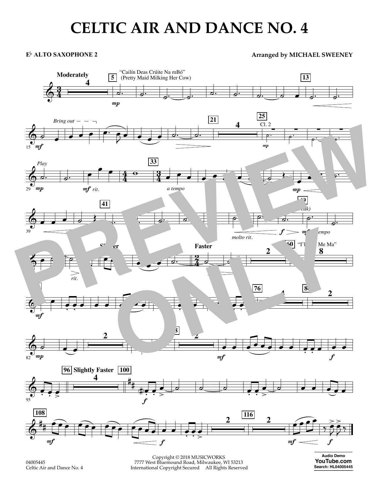 Celtic Air and Dance No. 4 - Eb Alto Saxophone 2 (Concert Band)