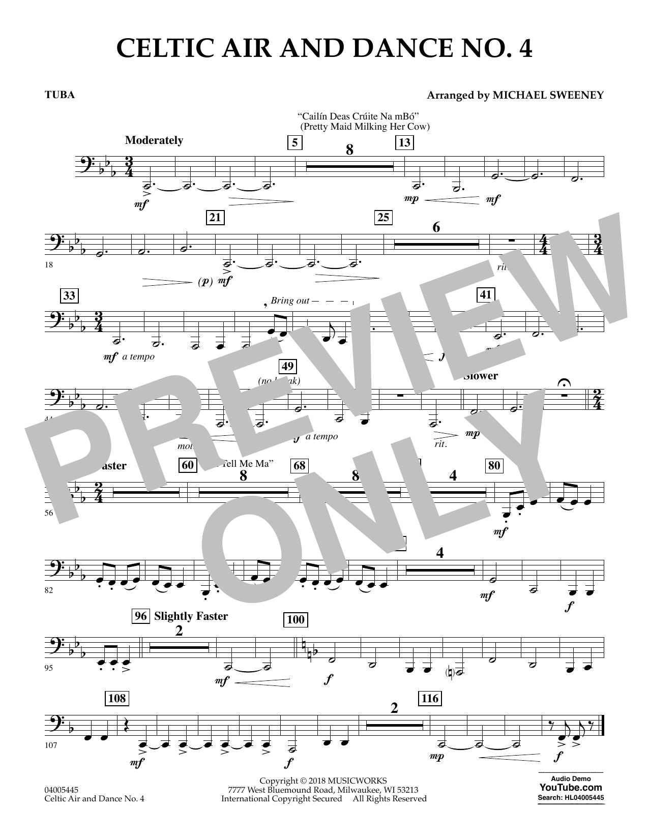 Celtic Air and Dance No. 4 - Tuba (Concert Band)
