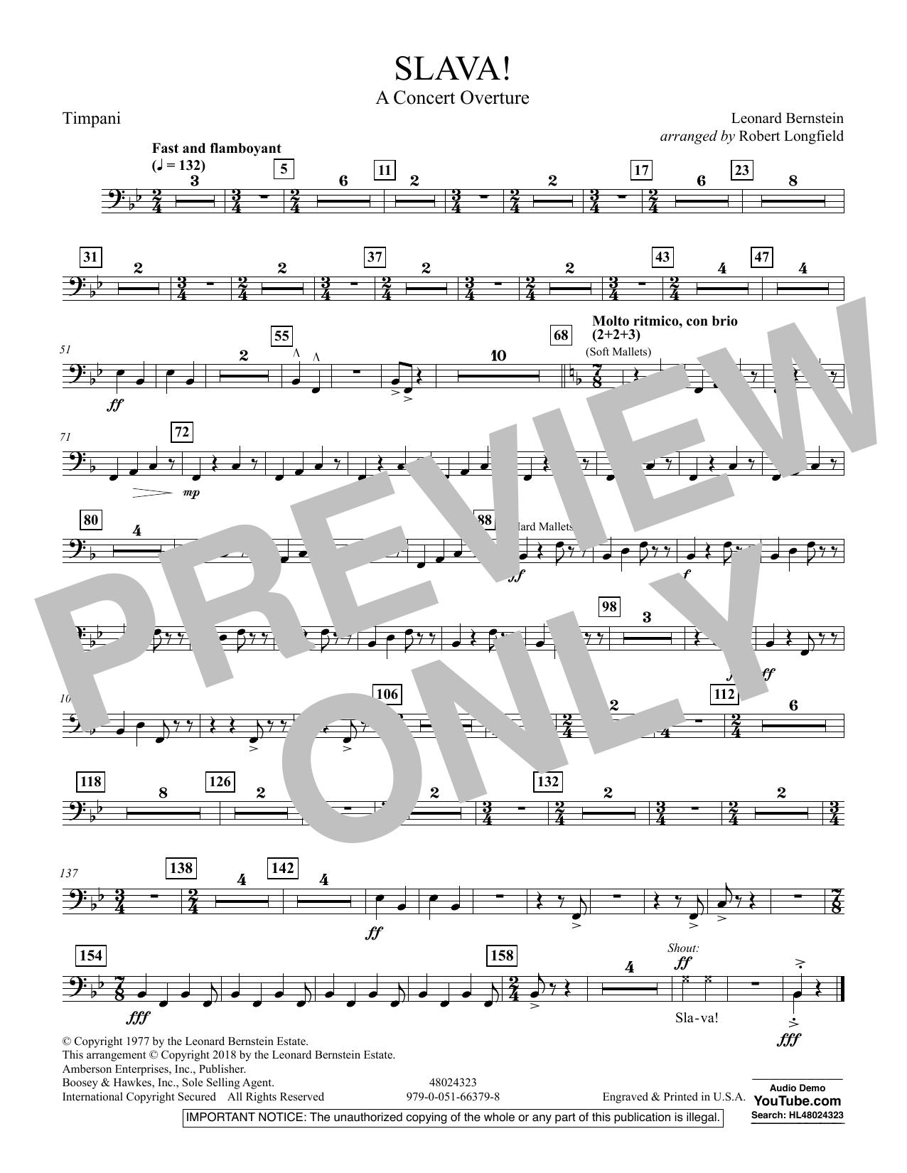 Slava! - Timpani (Concert Band)