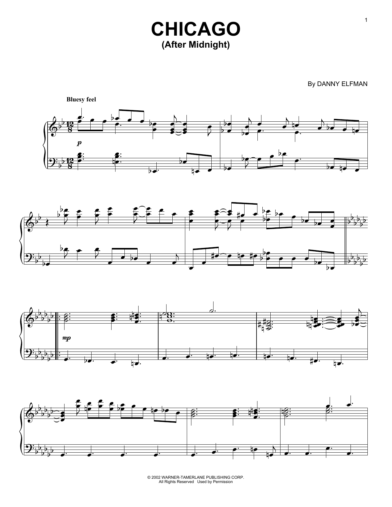 Chicago (After Midnight) (Piano Solo)