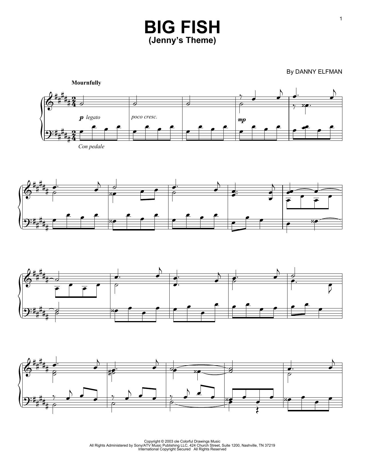 Jenny's Theme (Piano Solo)