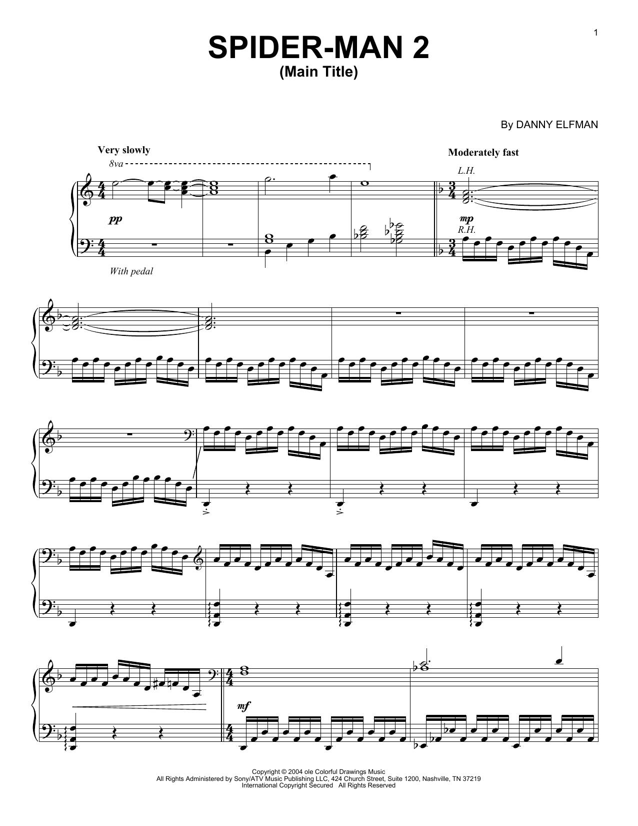 Spider-Man 2 (Main Title) (Piano Solo)