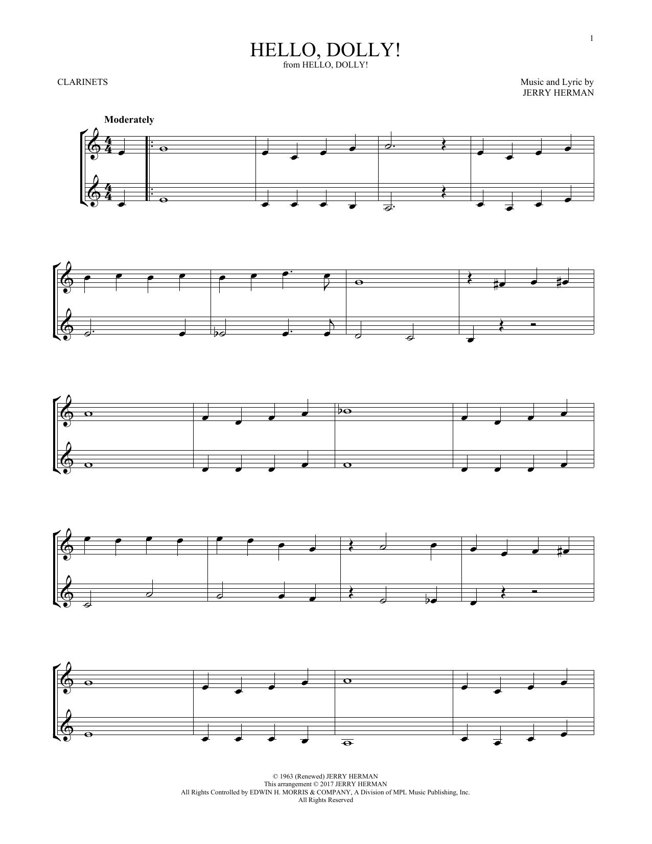 Hello, Dolly! (Clarinet Duet)