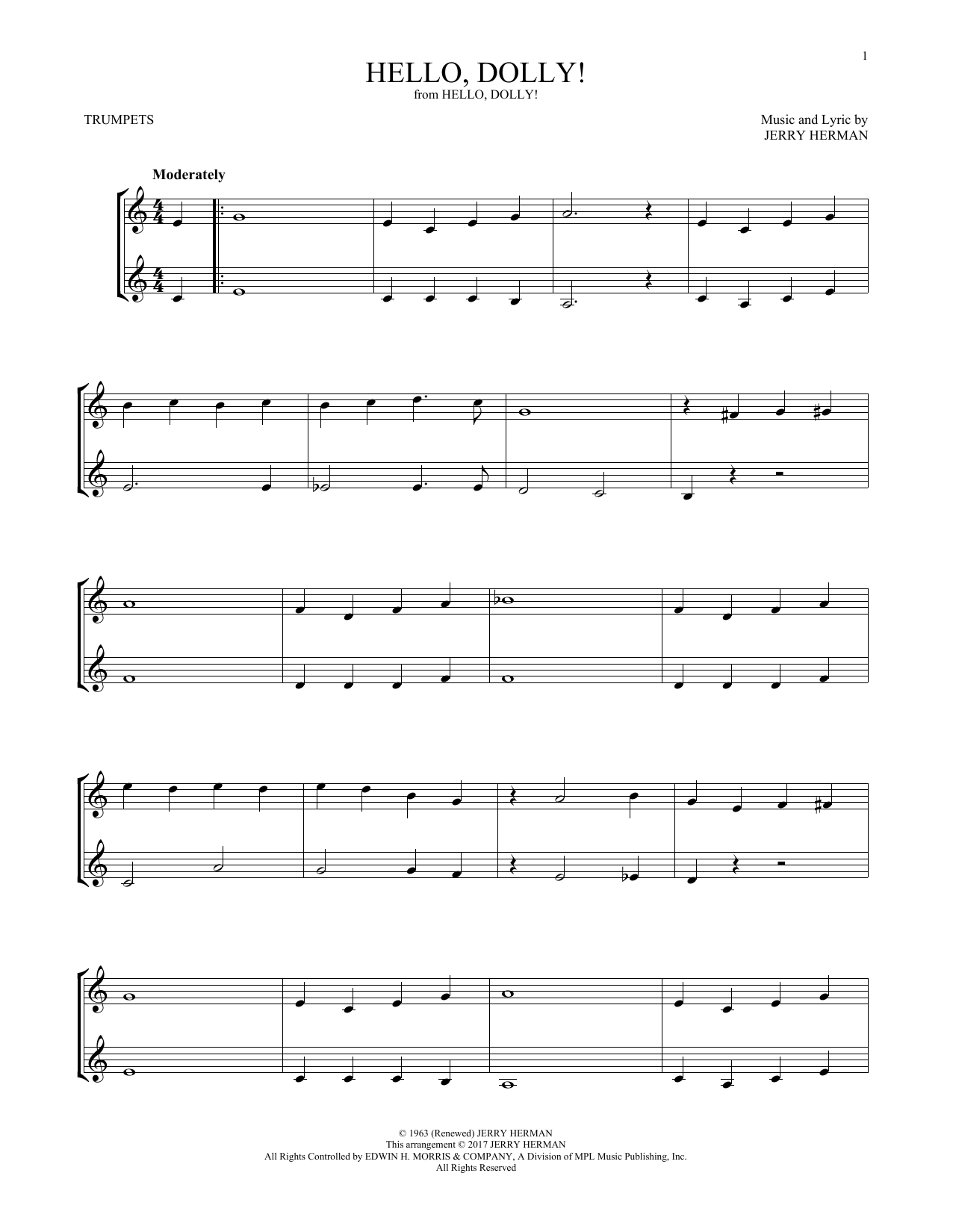 Hello, Dolly! (Trumpet Duet)
