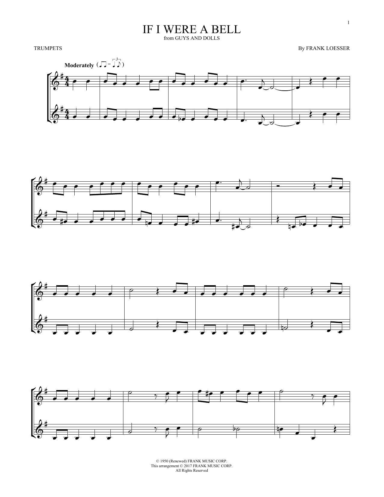 If I Were A Bell (Trumpet Duet)