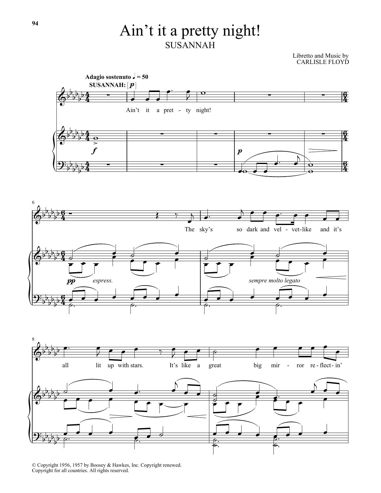 Ain't It A Pretty Night! (Piano & Vocal)