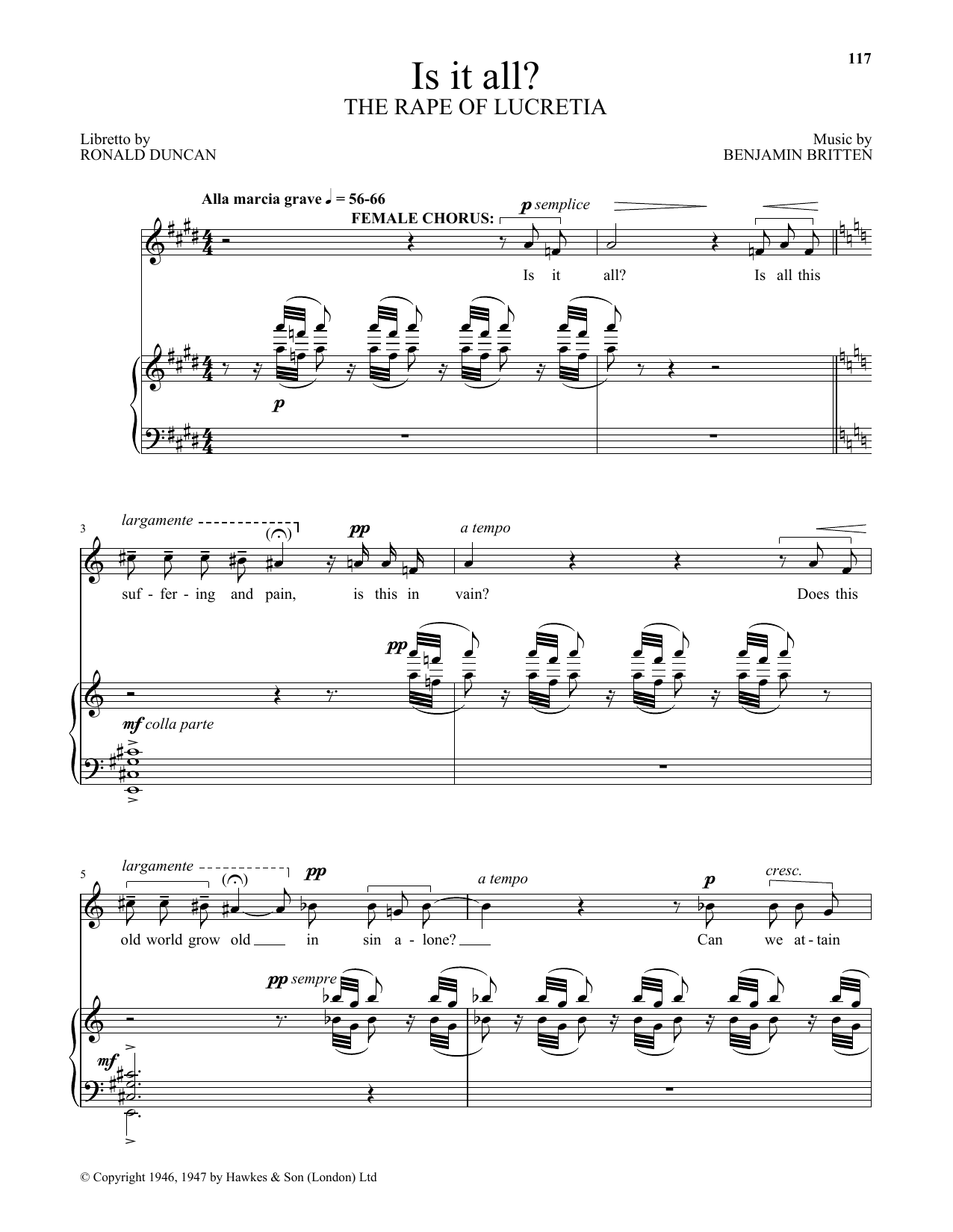 Is it all? (from The Rape Of Lucretia) (Piano & Vocal)
