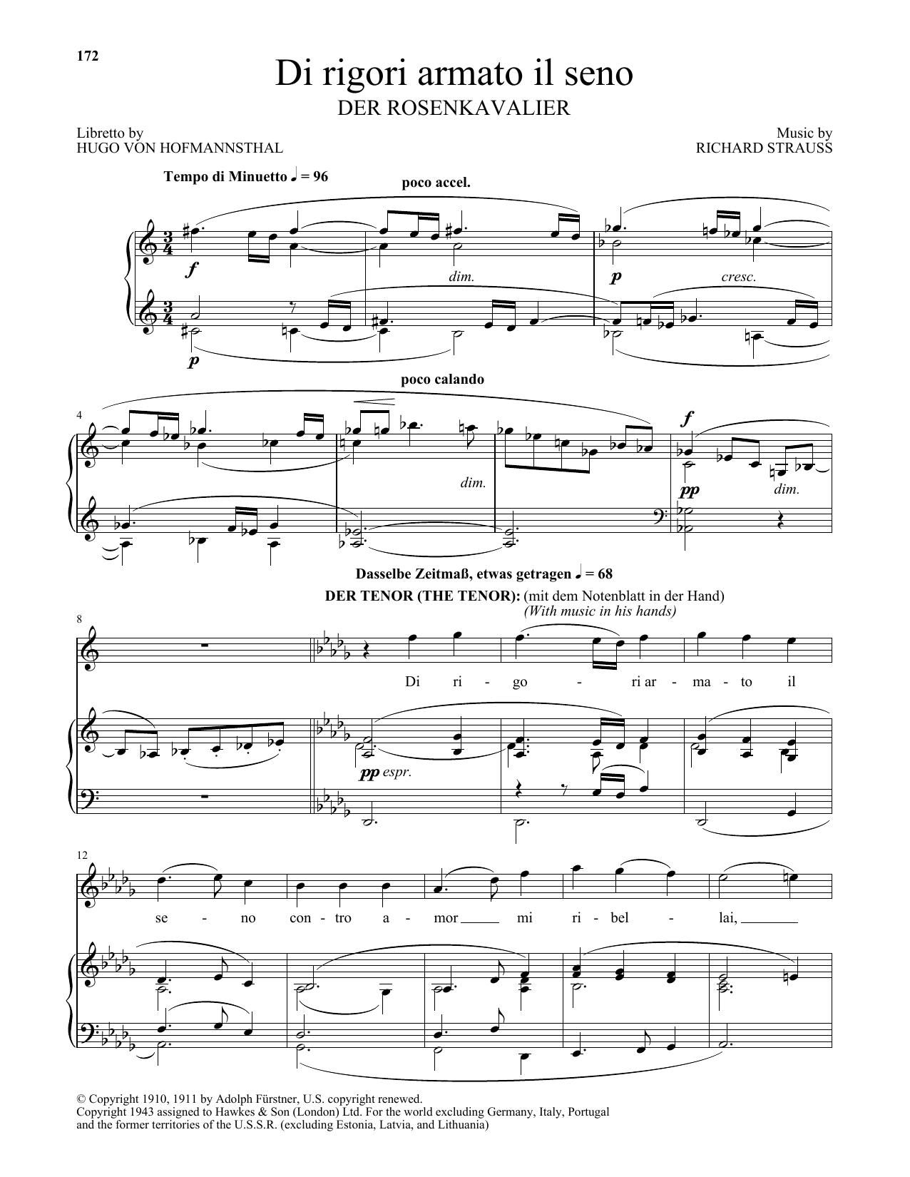 Di Rigori Armato Il Seno (Piano & Vocal)