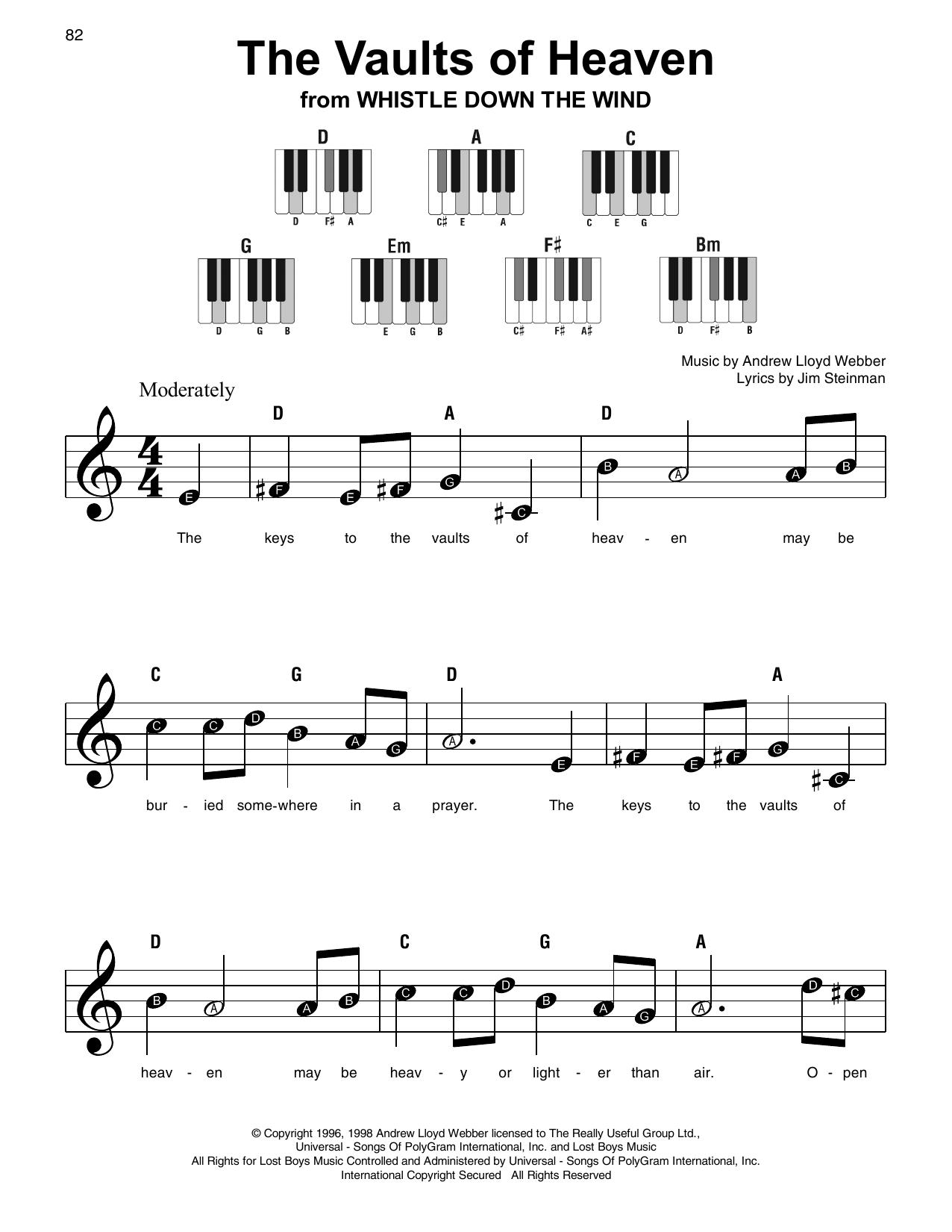 The Vaults Of Heaven Sheet Music