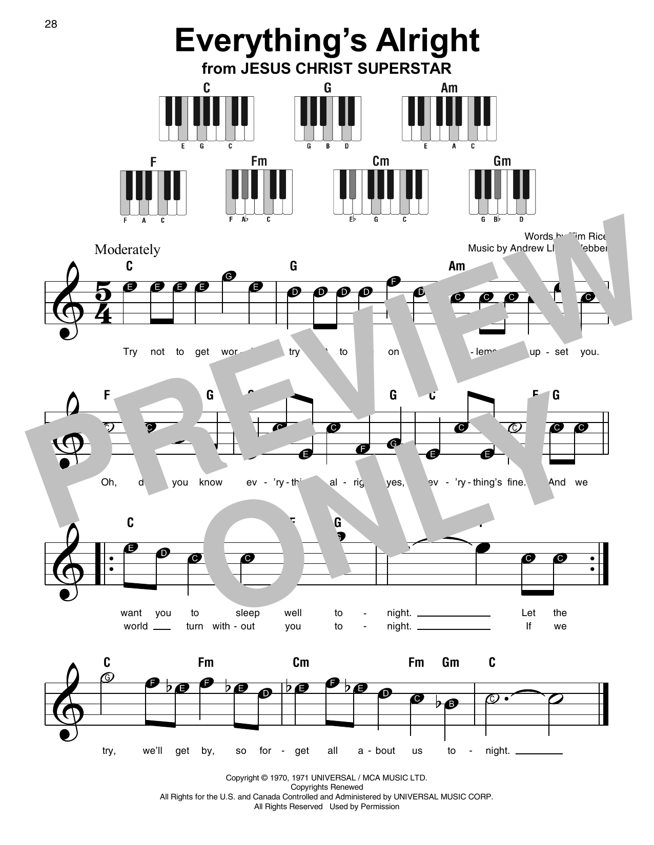 Everything's Alright Sheet Music