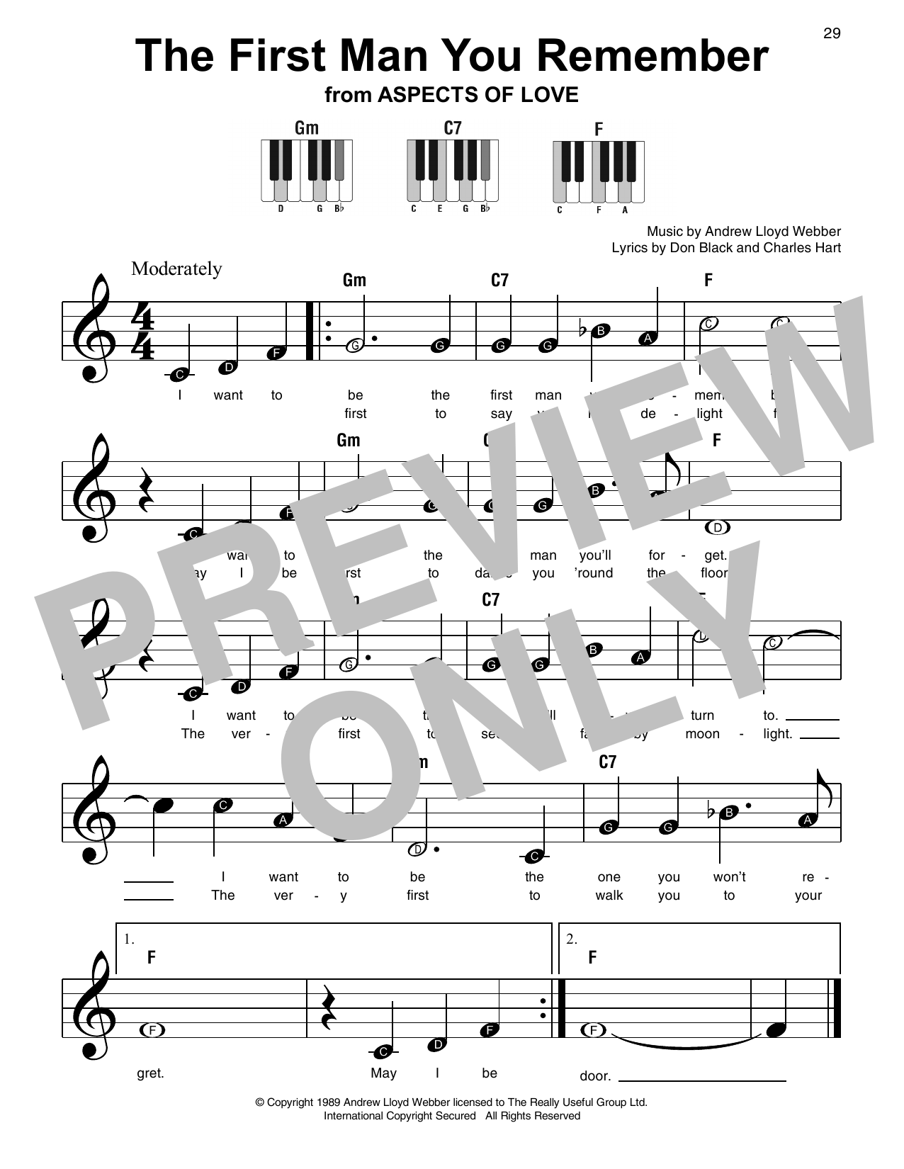 The First Man You Remember Sheet Music