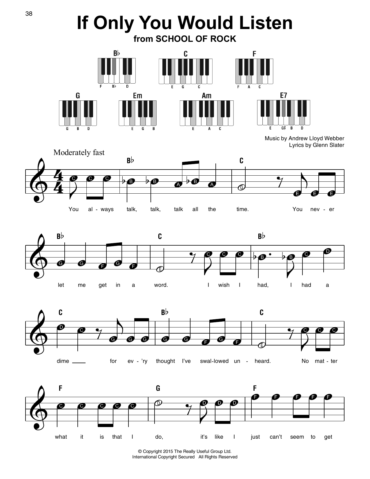 If Only You Would Listen Sheet Music