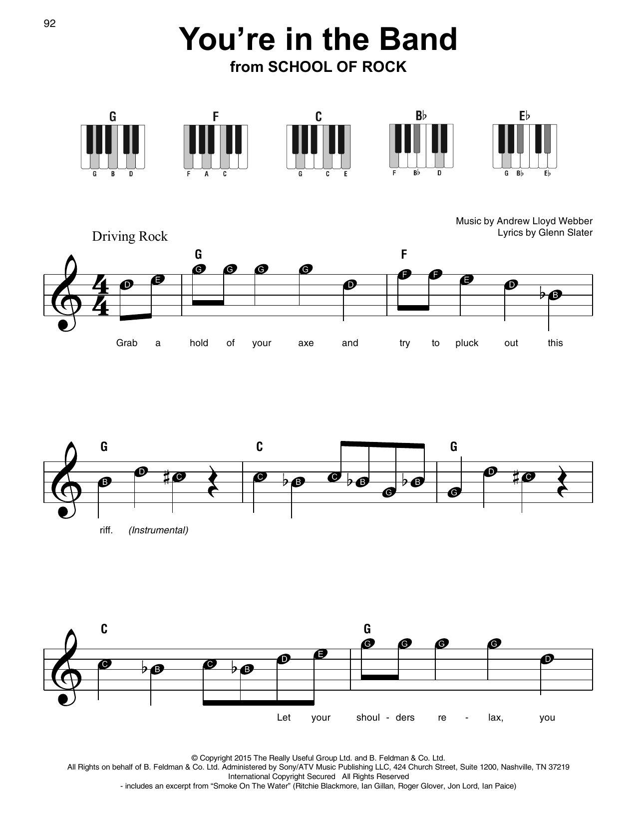 You're In The Band (from School of Rock: The Musical) (Super Easy Piano)