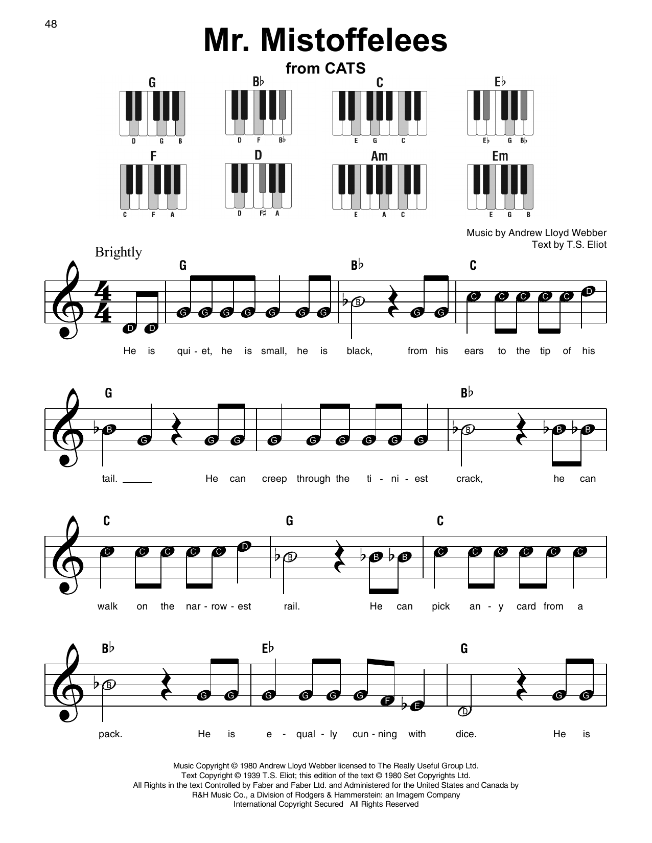 Mr. Mistoffelees (Super Easy Piano)