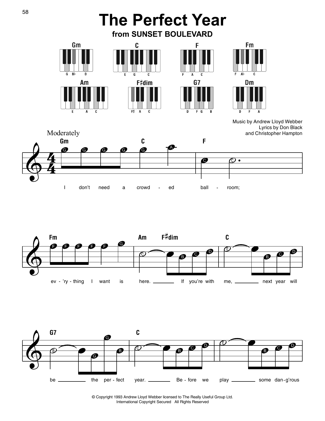 The Perfect Year Sheet Music