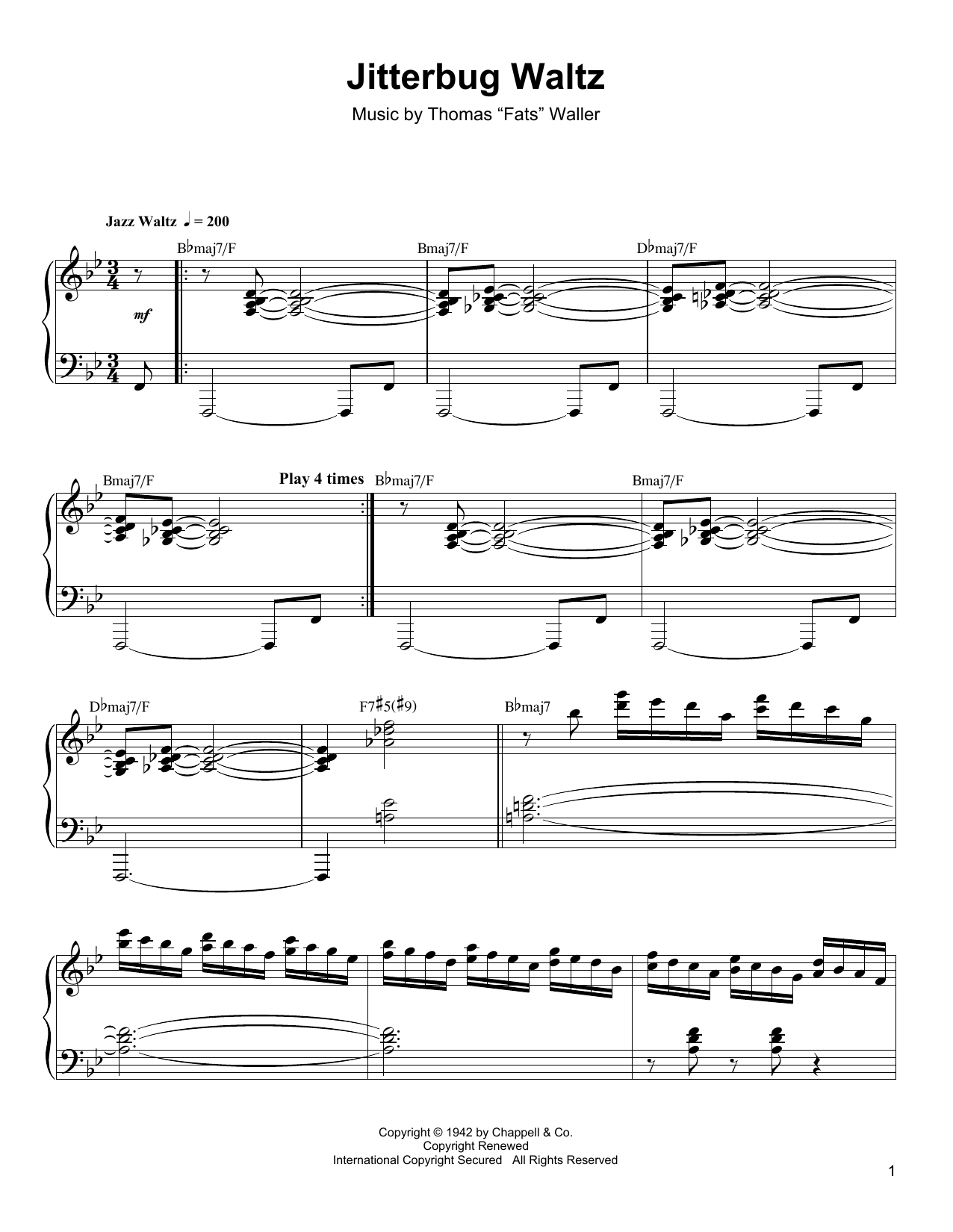 Jitterbug Waltz Sheet Music